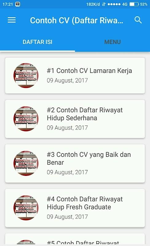 Contoh Cv Daftar Riwayat Hidup Apk 2 4 0 Download Free Books