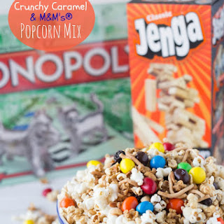Crunchy Caramel & M&M's? Popcorn Mix