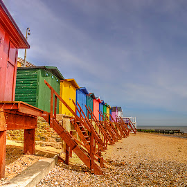 Beach Huts by Carl Surry - Buildings & Architecture Other Exteriors ( huts, naze, essex, walton, beach, coast )