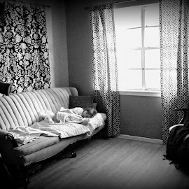 Quiet Room by Rachel Stogner - Black & White Street & Candid