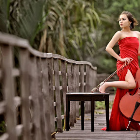 The Red Sonata by Angga Photology - People Fashion ( fashion, beauty, conceptual, women )