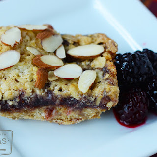 Blackberry Almond Oat Squares
