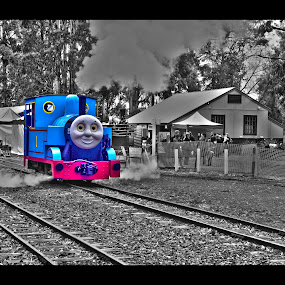 Thomas The Tank Engine by Sassine El Nabbout - Digital Art Things ( thomas the tank engine, victoria, emerald station )