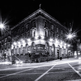 Dean Street by Adam Lang - Black & White Buildings & Architecture ( lights, mosely street, newcastle, dean street, city )
