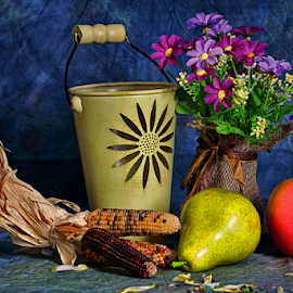 by Dipali S - Artistic Objects Still Life ( ornamental, bouquet, vase, apple, still life, planting, gardening, spring, corn, pear )