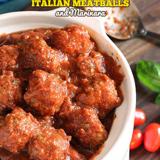 Crockpot Italian Meatballs and Marinara