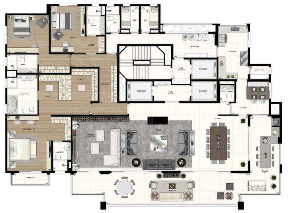 400m2 no contra-piso em endereço super exclusivo