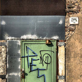 Jammed by Justus Böttcher - Buildings & Architecture Decaying & Abandoned ( door, closed, locked )
