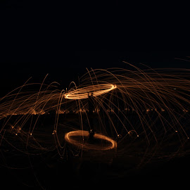 Fire Figure by Raea Gooding - Abstract Light Painting ( steel wool )