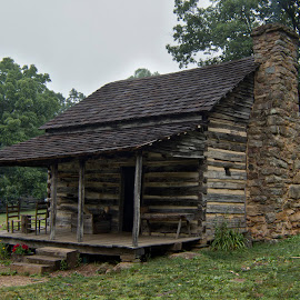 BRP 7-2017 P1010003 by Ross Boyd - Buildings & Architecture Decaying & Abandoned ( mountains, parkway, log cabin, va )