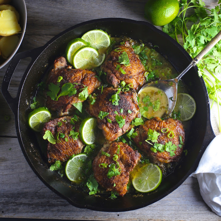 Chicken with Lime, Garlic and Cilantro Recipe | Yummly