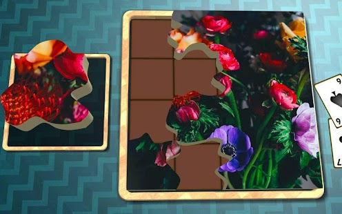 Jigsaw Solitaire - Floral Art - screenshot