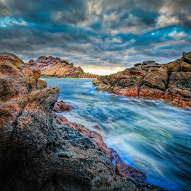 Flowing by Greg Tennant - Landscapes Waterscapes