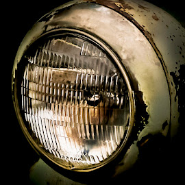 Rusty Headlight by Anthony Balzarini - Artistic Objects Glass ( #rusty, #old, #headlight, #rust, #photography, #antique )
