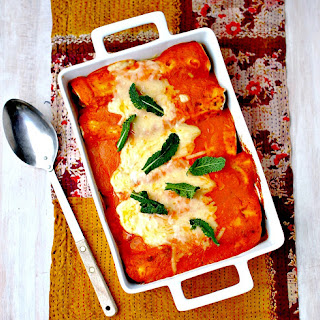 Curry-Spiced Vegetable and Lentil Enchiladas