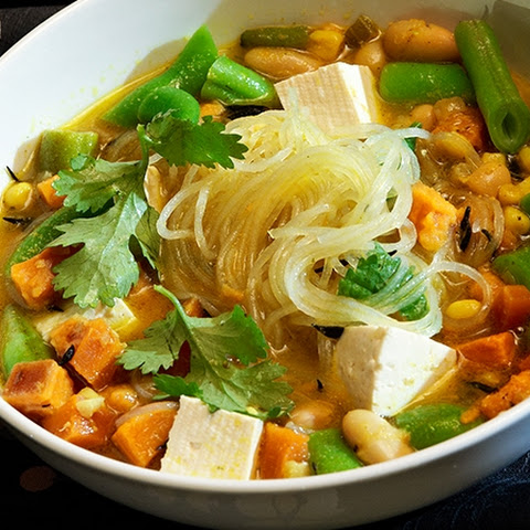 Curry-Tahini-Shoyu Noodle Soup