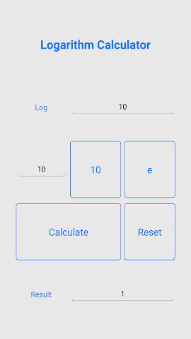 android Quick Logarithm Calculator Screenshot 1