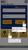 Screenshot of BDO Mobile Banking