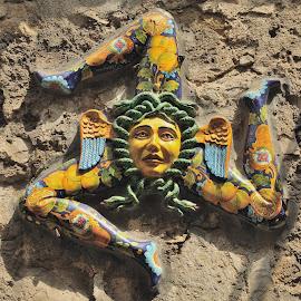 Trinacria means Sicily by Tomasz Budziak - Artistic Objects Other Objects ( artistic objects, sicily, italy )