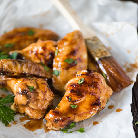 Sticky BBQ Orange Chicken Wings