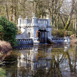 Royal waterfall by Anita Berghoef - City,  Street & Park  Historic Districts ( the old loo, park, nature, waterfall, the netherlands, apeldoorn, historical, architecture )