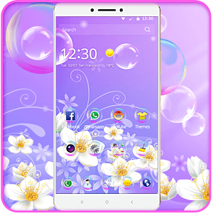 purple water bubble love theme for Android