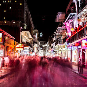 Bourbon Street by Habashy Photography - City,  Street & Park  Street Scenes ( bourbon street, new orleans, nola )
