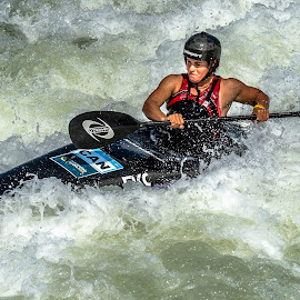 Meeting the Challenge  by Mike Watts - Sports & Fitness Watersports ( kayak, women )