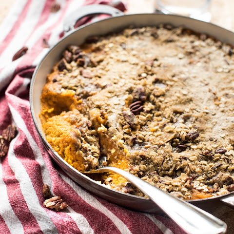 ROASTED SWEET POTATO PECAN CASSEROLE
