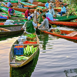 Floating Bargains by Rajiv Bhardwaj - People Street & Candids
