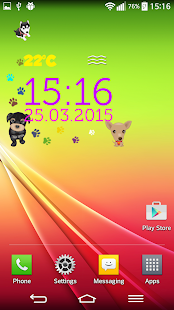 Puppy Digital Weather Clock - screenshot