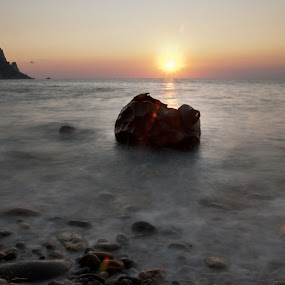 Long Sunset  by Inma  Monte Picante - Landscapes Waterscapes