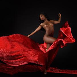 Faith in Red by John McNairn - Nudes & Boudoir Artistic Nude ( studio, model, red, nude, velvet )