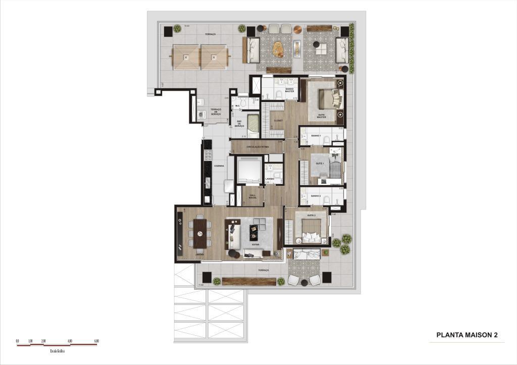 Planta Maison - 254 m²