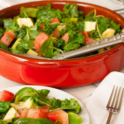 Kale, Chard, Watermelon & Avocado Salad