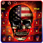 American Skull Keyboard Theme Icon