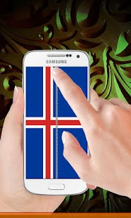 Iceland flag zip Lock Screen - screenshot