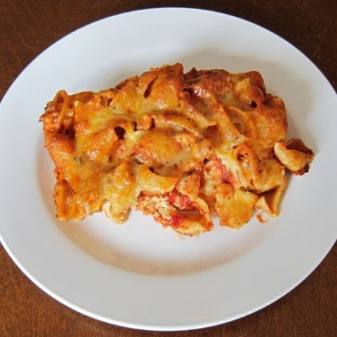 Baked Pasta Shells Casserole Recipe With Ground Meat And Ricotta