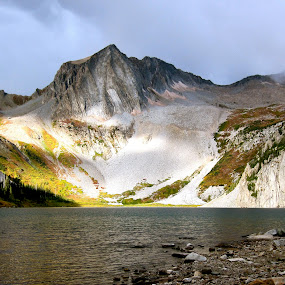 Snowmass Lake by Seamus Crowley - Landscapes Mountains & Hills ( clouds, epic, mountain, peak, colorado, trees, lake, sunrise, storm, ridge )
