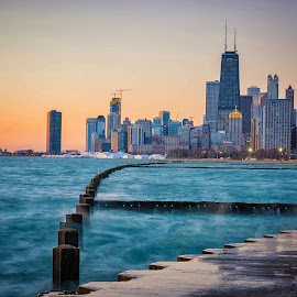 Chicago Sunrise by Amy Ann - City,  Street & Park  Skylines