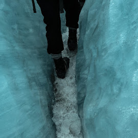 Walking the Ice Trail by Perla Tortosa - Sports & Fitness Other Sports ( walking, ice road, winter, feet, frozen )