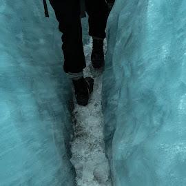Walking the Ice Trail by Perla Tortosa - Sports & Fitness Other Sports ( walking, ice road, winter, feet, frozen,  )