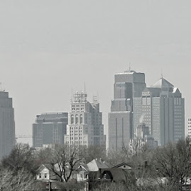 Downtown KC by Jackie Eatinger - City,  Street & Park  Skylines