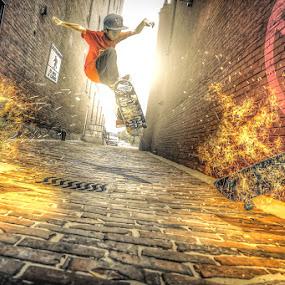 Skateboarding is not a crime by Reza Roedjito - Digital Art People