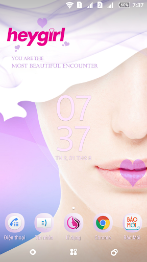 Glamor Lips Xperia Theme - screenshot
