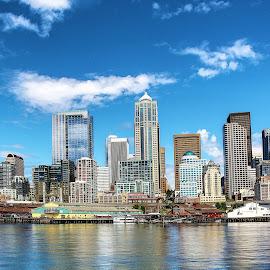 Seattle Skyline 01 by Rick Nova - City,  Street & Park  Skylines
