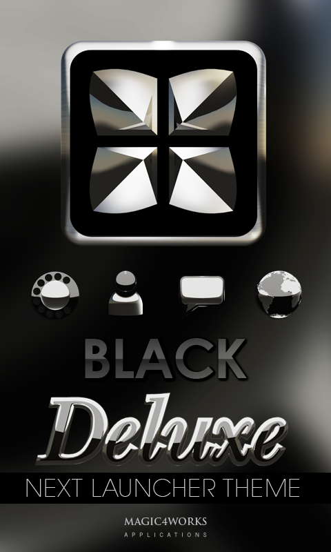 Black S Next Launcher theme Screenshot 0