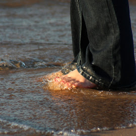 Toes in the Water by Rhonda Mullen - People Body Parts