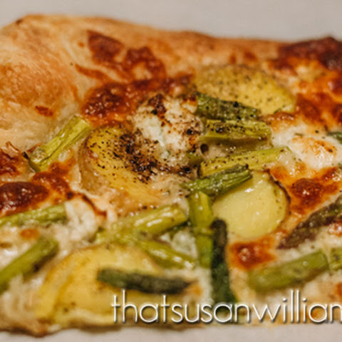 Asparagus Goat Cheese Pizza Recipes | Yummly