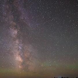 Deep Beyond by Jayson Alder - Landscapes Starscapes ( canon 6d, tokina 12-24mm f/4, stars, starscapes, astrophotography, landscape, night sky, nebraska, photography, country sky, milky way )